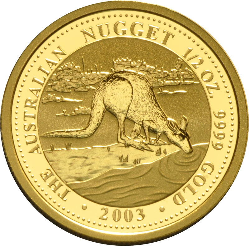 2003 Half Ounce Gold Australian Nugget