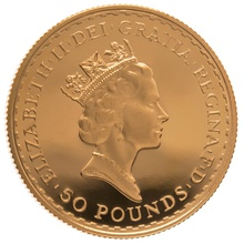 1987 Half Ounce Proof Britannia Gold Coin