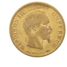10 French Francs - Napoleon III (Bare Head) (1854 - 1860)