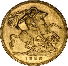 1929 Gold Sovereign - King George V - P