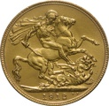 1912 Gold Sovereign - King George V - London