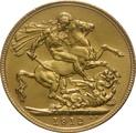 1912 Gold Sovereign - King George V - London