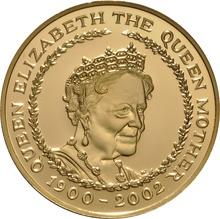 2002 - Gold £5 Proof Crown, Queen Mother Memorial Boxed