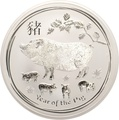 2019 10oz Australian Lunar Year of the Pig Silver Coin