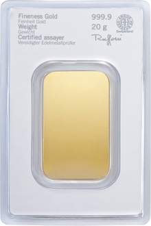 Heraeus 20 Gram Gold Bar