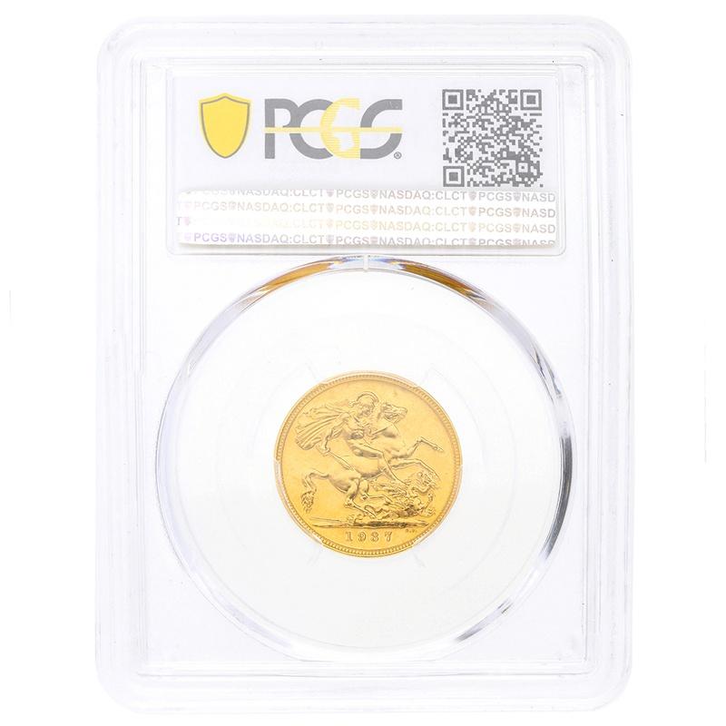 1937 Gold Proof Sovereign George VI PCGS PR64