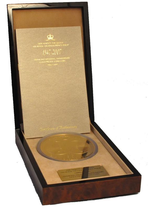 2007 Diamond Wedding Anniversary, One Kilo Gold Proof Coin Boxed