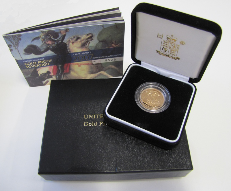 Gold Proof 2007 Sovereign Boxed