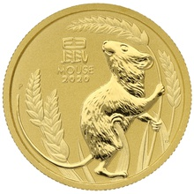 2020 Perth Mint Quarter Ounce Year of the Mouse Gold Coin Gift Boxed