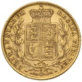 1882 Gold Sovereign - Victoria Young Head Shield Back- S