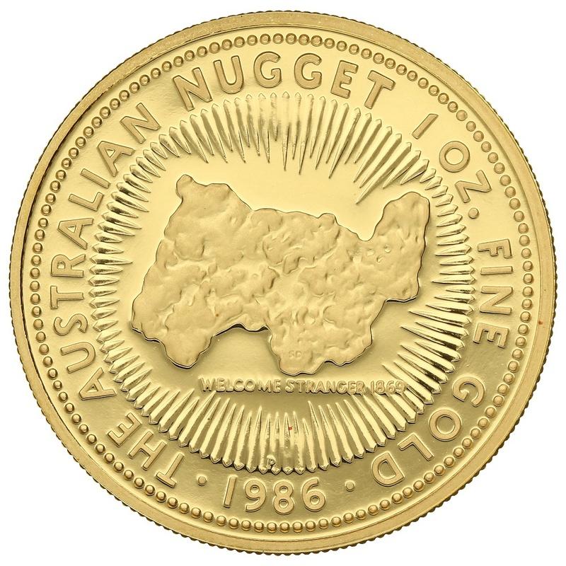 1986 1oz Gold Proof Australian Nugget