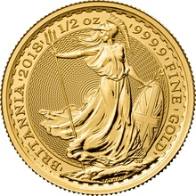 2018 Britannia Half Ounce Gold Coin