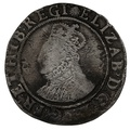 1584-6 Queen Elizabeth I  Hammered Silver Shilling - mm Escallop