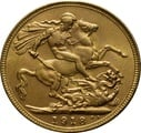 1918 Gold Sovereign - King George V - India