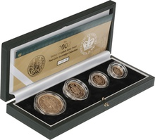 2002 Gold Proof Sovereign Four Coin Set Boxed