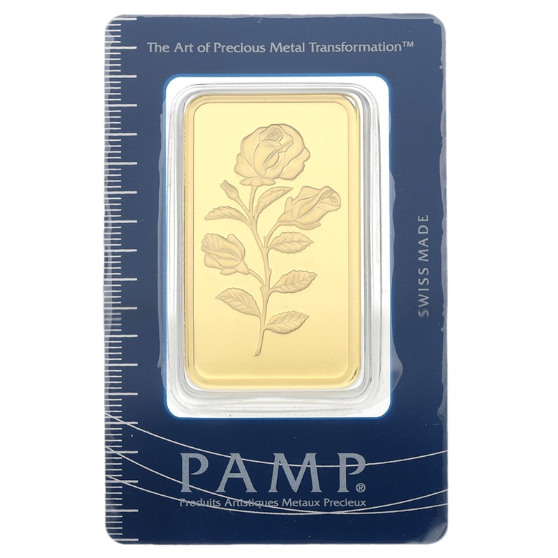 PAMP Rosa 100 Gram Gold Bar Minted