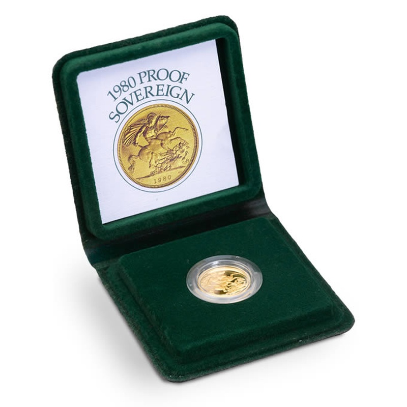 Gold Proof 1980 Sovereign Boxed