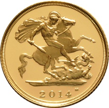 2014 Gold Half Sovereign Elizabeth II Fourth Head Proof