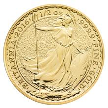 2016 Half Ounce Britannia Gold Coin