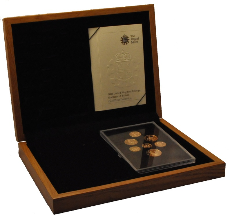 2008 UK Coinage, Emblems, Gold Proof Collection Boxed