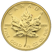 1982 Quarter Ounce Gold Canadian Maple