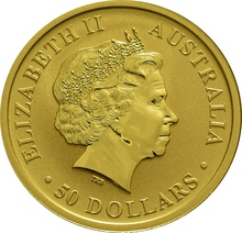 2015 Half Ounce Gold Australian Nugget