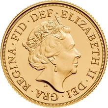 2017 Gold Half Sovereign Elizabeth II Fifth Head