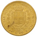 Sardinian 20 Lire Gold Coin Victor Emmanuel II