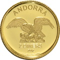 Andorra 2 Diner One Gram Gold Coin 2012