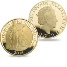 2016 One Ounce Proof Britannia Gold Coin