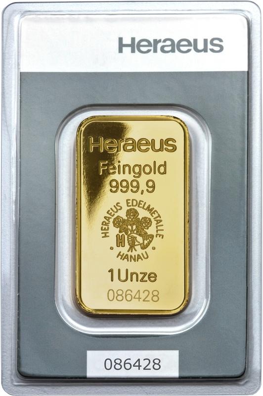 Heraeus 1oz Gold Bar