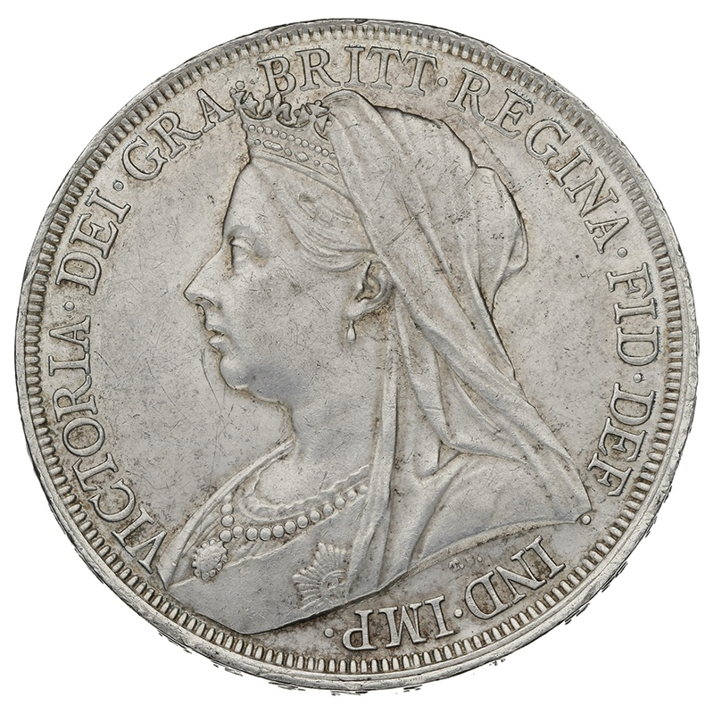 1897 LXI Queen Victoria Silver Milled Crown