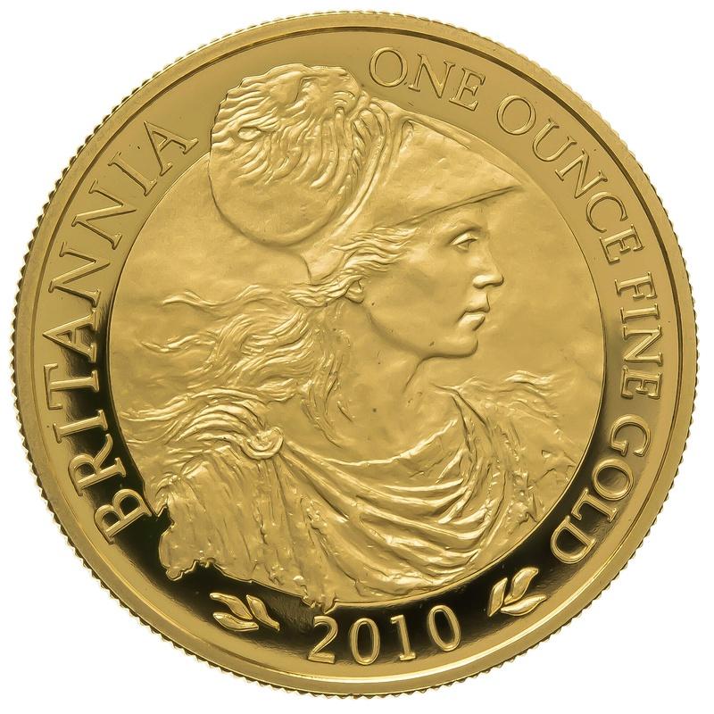 2010 One Ounce Proof Britannia Gold Coin
