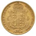 1890 Half Sovereign Victoria Jubilee Head Shield Back - London