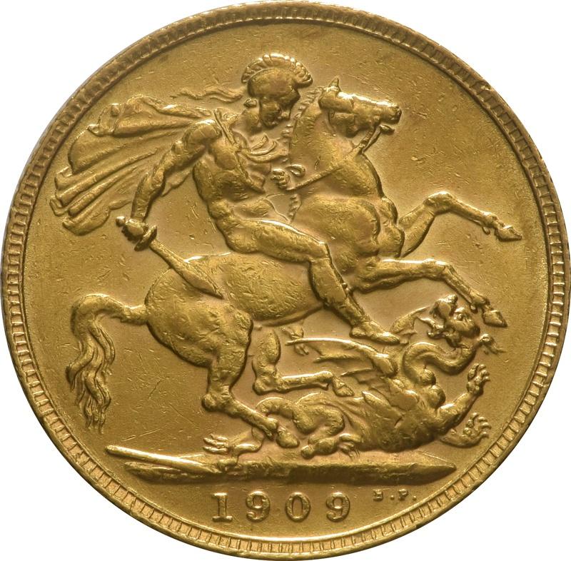 1909 Gold Sovereign - King Edward VII - London