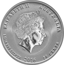 2016 Half Ounce Australian Lunar Year of the Monkey Silver Coin