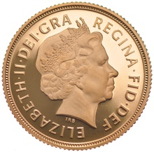 2000 Gold Sovereign - Elizabeth II Fourth Head Proof