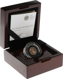 2016 Quarter Sovereign Gold Proof Coin Boxed