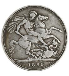 1889 Victoria Jubilee Head Crown - Fine