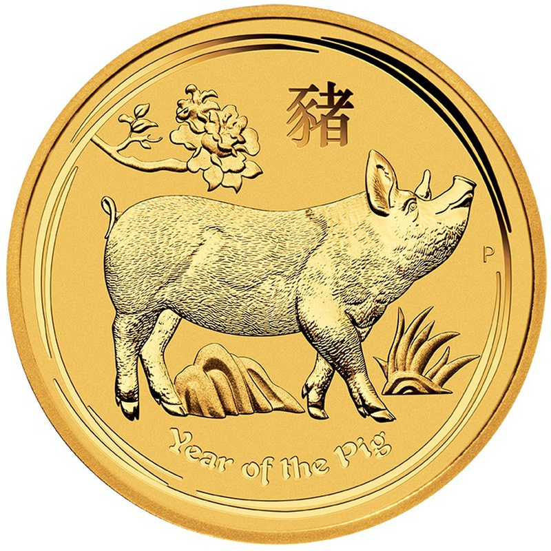 2019 2oz Perth Mint Year of the Pig Gold Coin