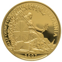 2007 Half Ounce Proof Britannia Gold Coin