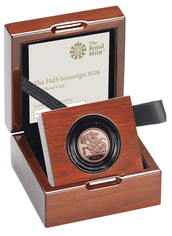 Gold Proof 2018 Half Sovereign Boxed