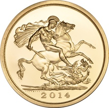 2014 - Gold £5 Brilliant Uncirculated Coin Boxed