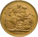 1905 Gold Sovereign - King Edward VII - M