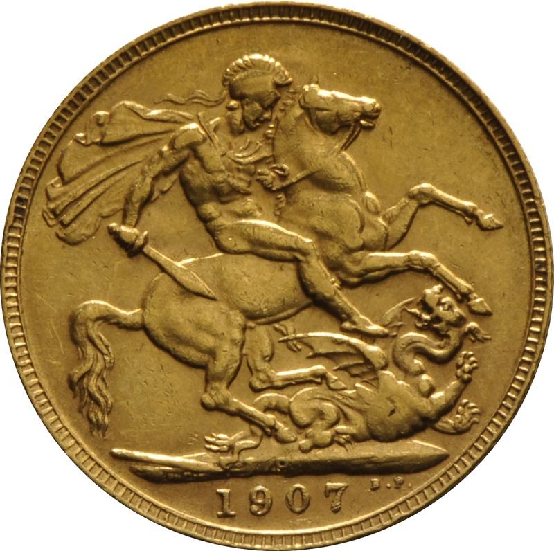 1907 Gold Sovereign - King Edward VII - P