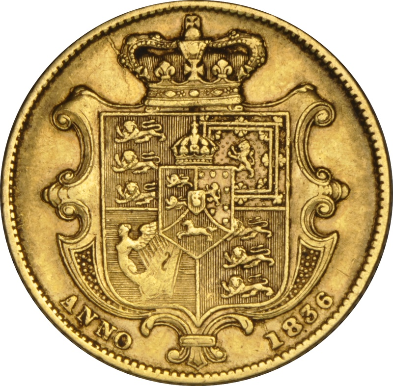 1836 Gold Sovereign - William IV