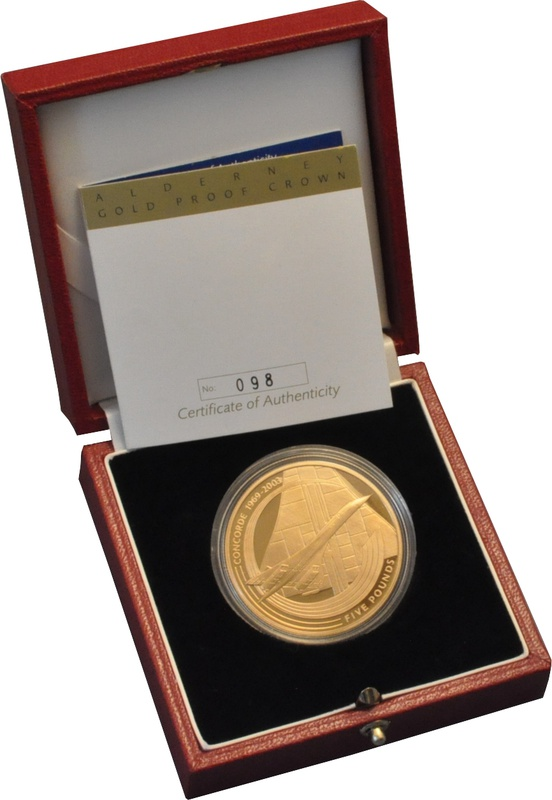 2003 - Gold £5 Proof Crown, Concorde Boxed