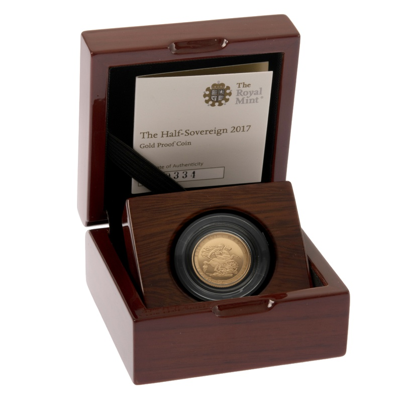 Gold Proof 2017 Half Sovereign Boxed