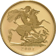 2007 Gold Sovereign - Elizabeth II Fourth Head Proof