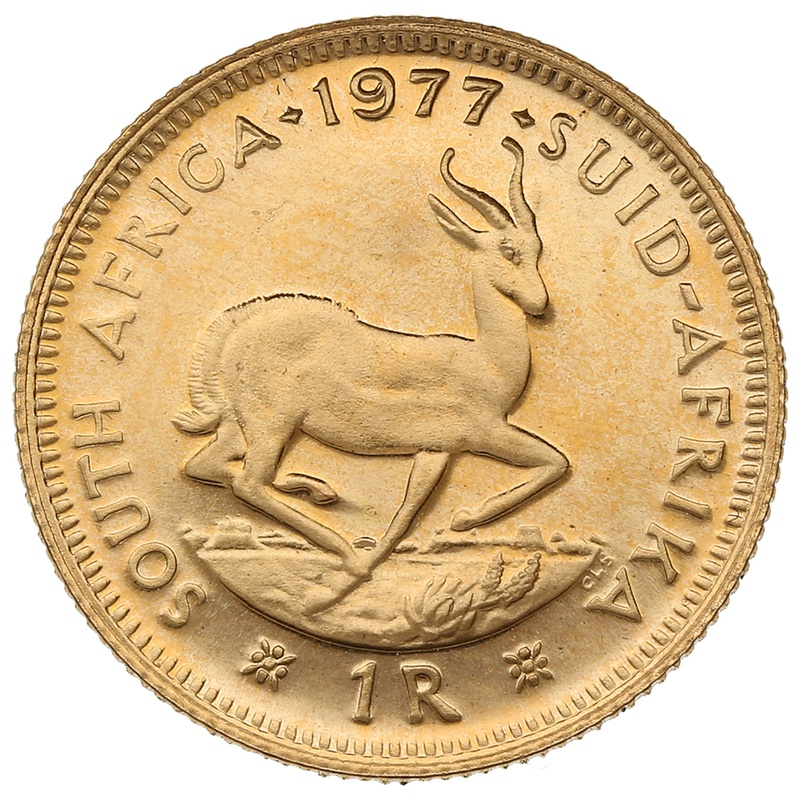 1977 1R 1 Rand coin South Africa